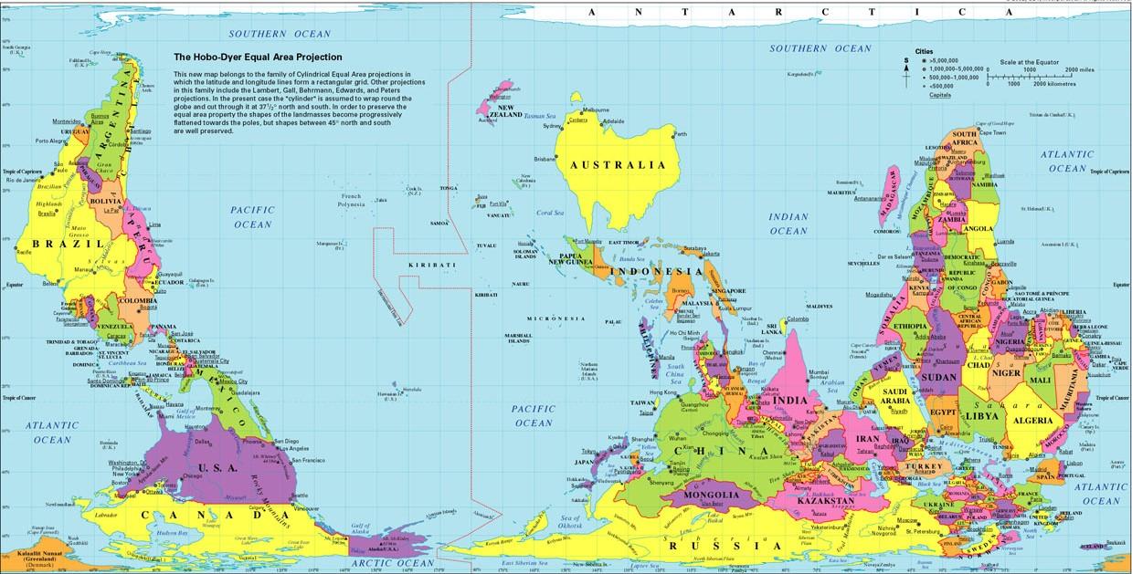 Obrácená mapa světa