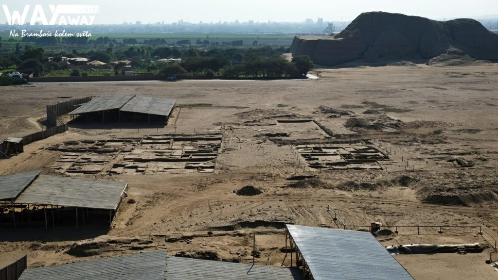 Pozůstatky původního města, tady žili Močikové