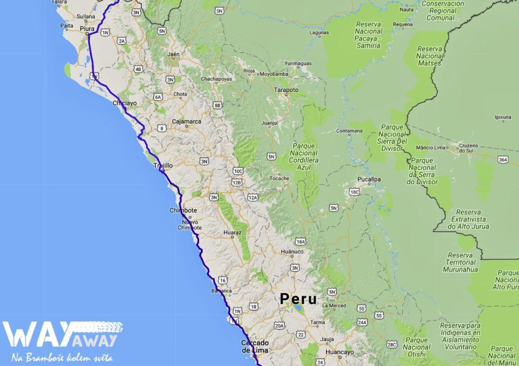 Peru - ujetá trasa