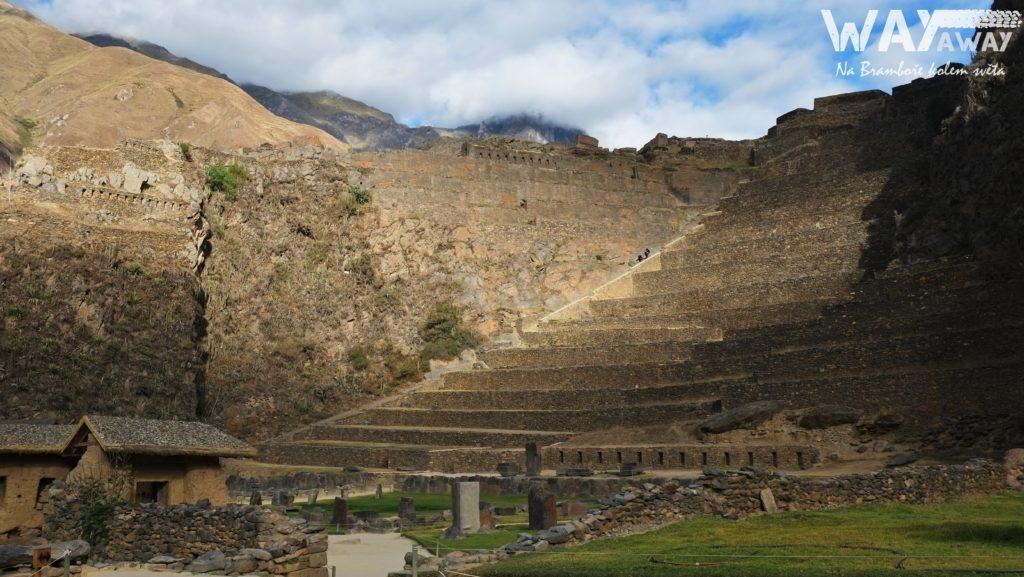 Incké terasy v Ollantaytambo