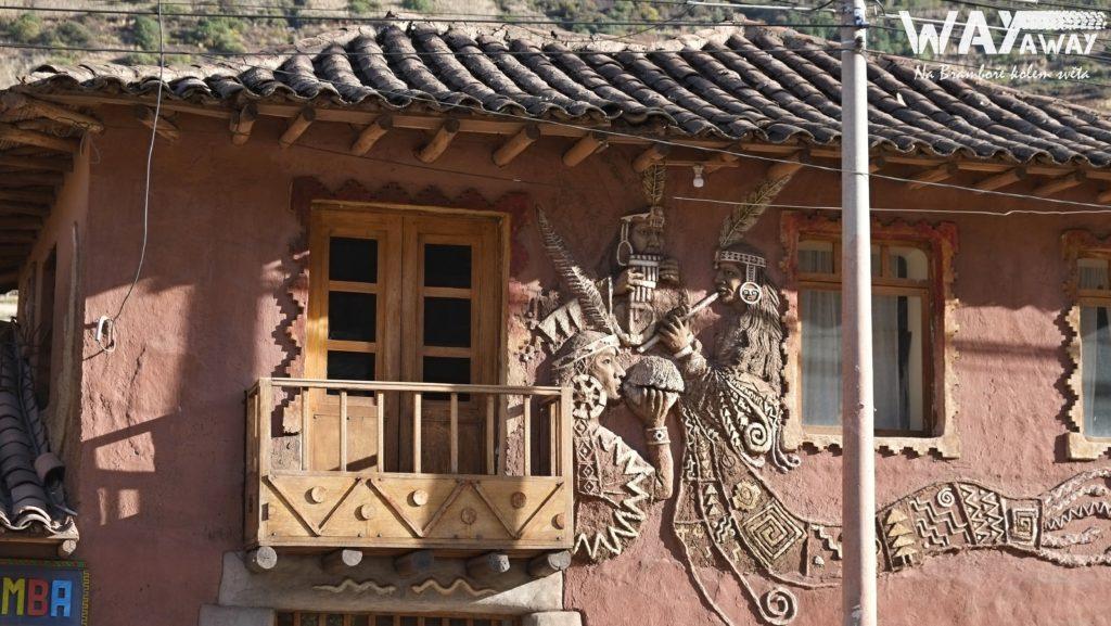 Architektura ve městě Písac, Peru