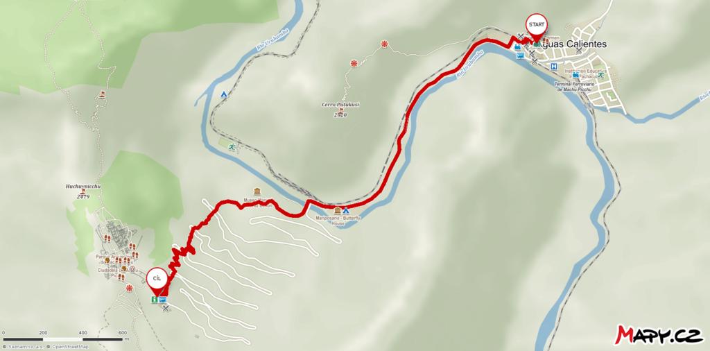 Trasa Aguas Calientes-Machu Picchu