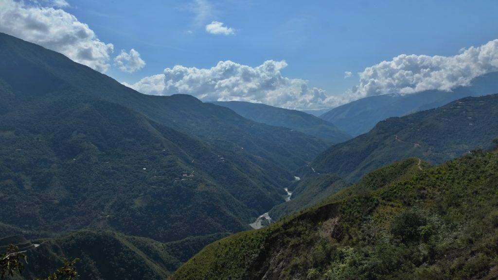 Silnice smrti - výhled do kraje