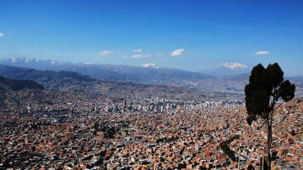 Pohled na La Paz, Bolívie